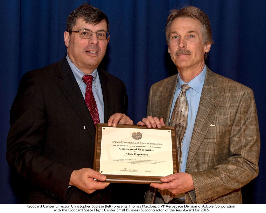 Adcole Aerospace Award
