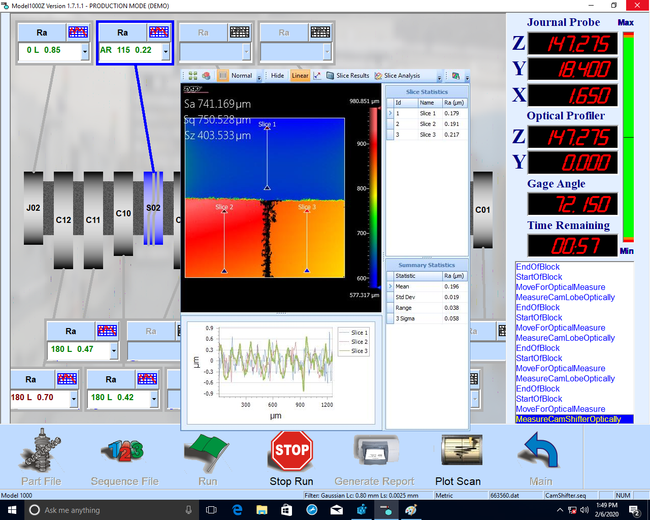 Surface Roughness Software enables manufacturers to acquire and analyze 3-D optical surface scans via Zygo 3-D white-light interferometers