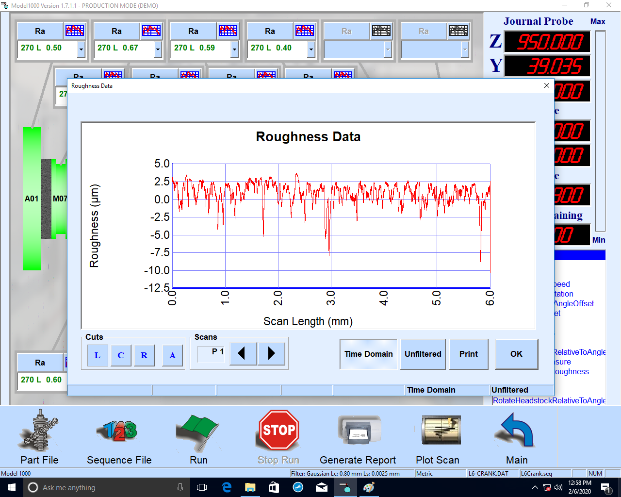 Adcole's Surface Roughness Measurement and Analysis software establishes surface roughness on camshafts, crankshafts and many other cylindrical or near-cylindrical parts, available for the 1000 and 1000-Z gages.